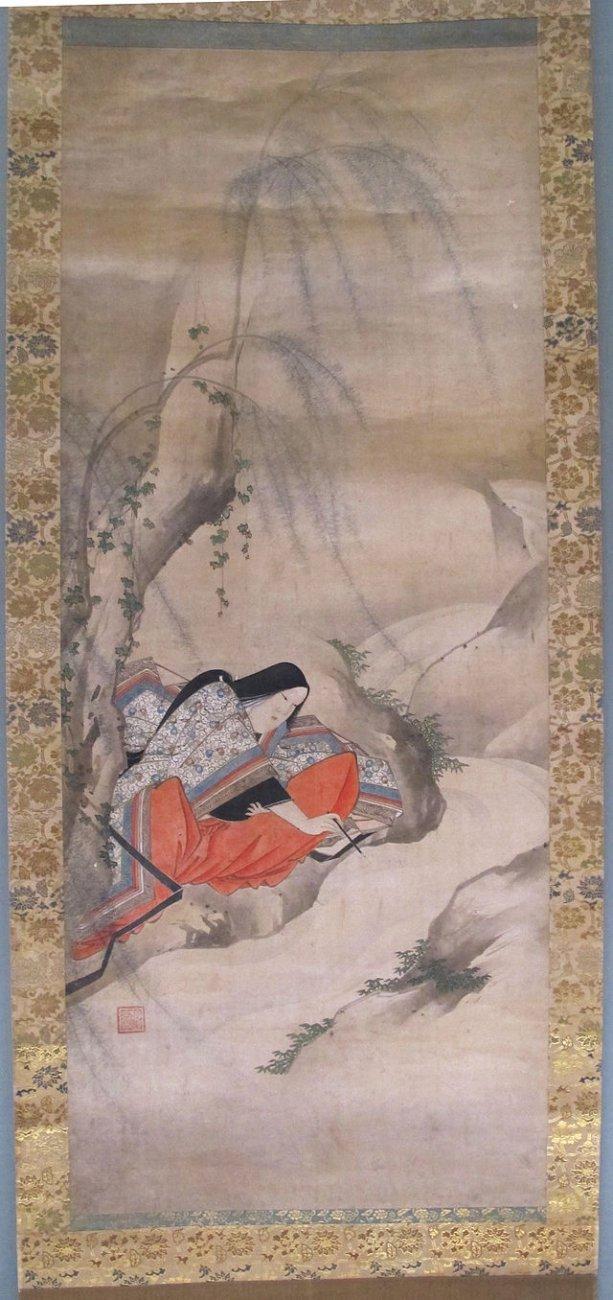 Periodo_azuchi-momoyama,_iwasa_matahei,_scrivere_sull'acqua,_XVII_sec._f01.JPG