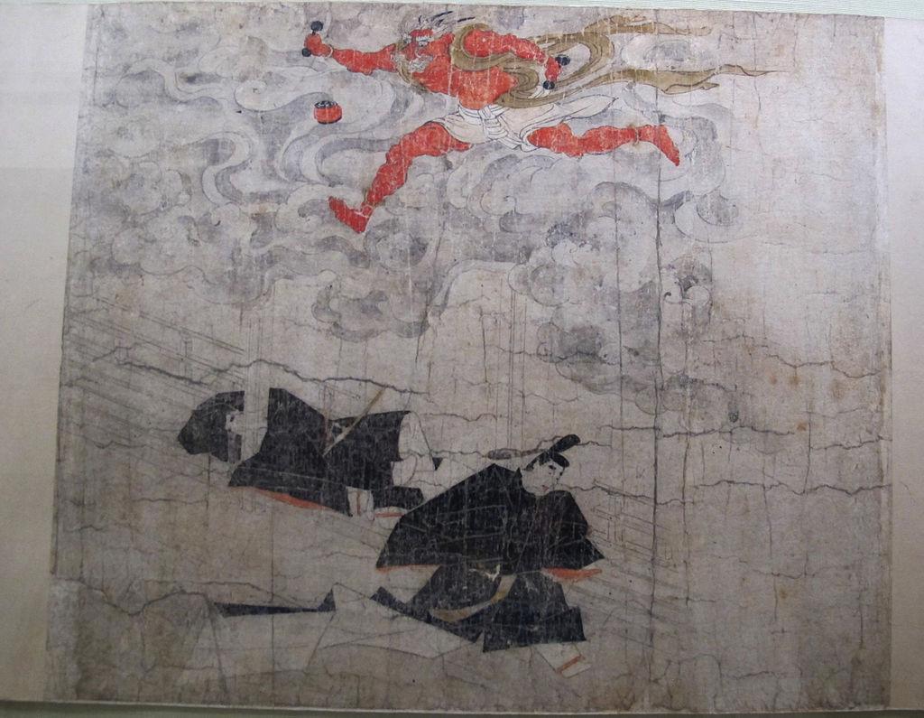 Periodo_kamakura,_rotolo_1_su_origine_del_tempio_kitano_tenjin,_XIII_sec,_03.JPG