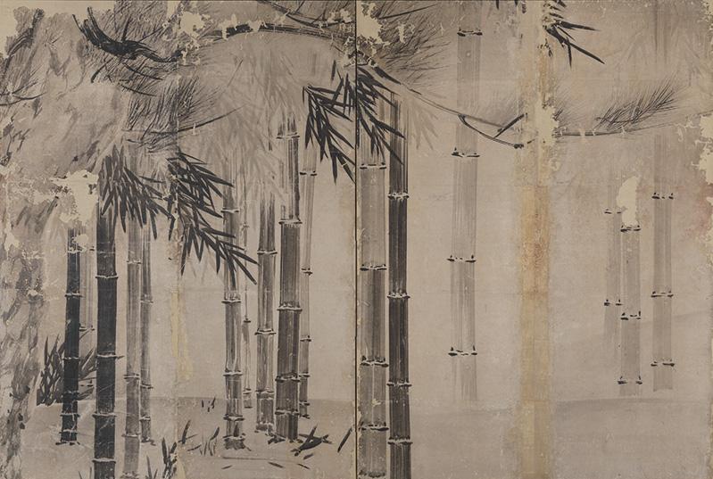 Pine_and_Bamboo_byobu_by_Hasegawa_Tohaku_(Ishikawa_Nanao_Art_Museum).jpg