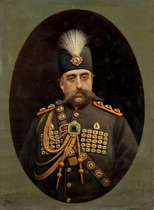 Portrait_of_Muzaffar_al-Din_Shah_Qajar_by_Kamal-ol-molk,_1902.jpg