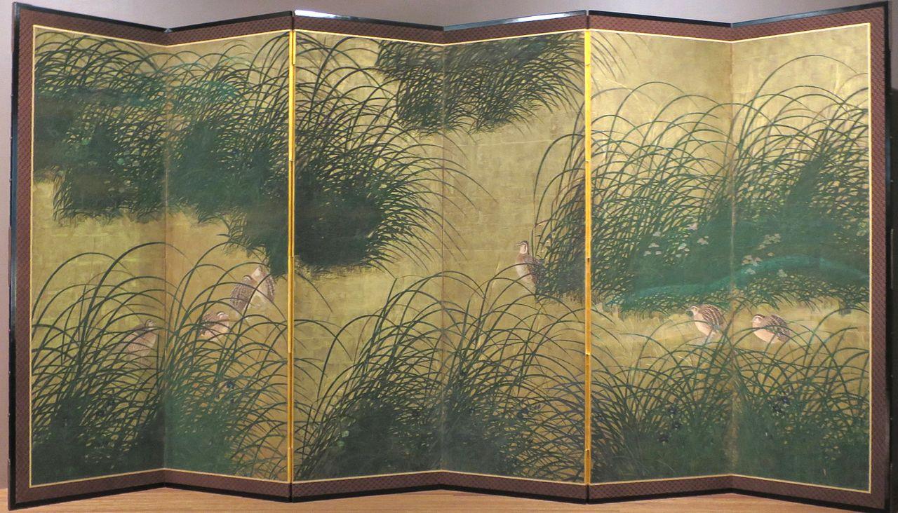 'Quail_amid_Autumn_Grasses_and_Flowers',_Momoyama_period,_LACMA.JPG
