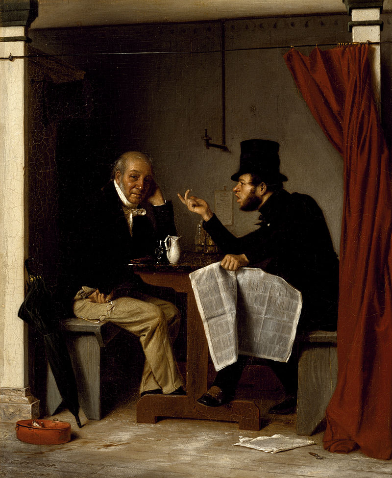Richard Caton Woodville-Richard_Caton_Woodville_-_Politics_in_an_Oyster_House_-_Walters_371994.jpg