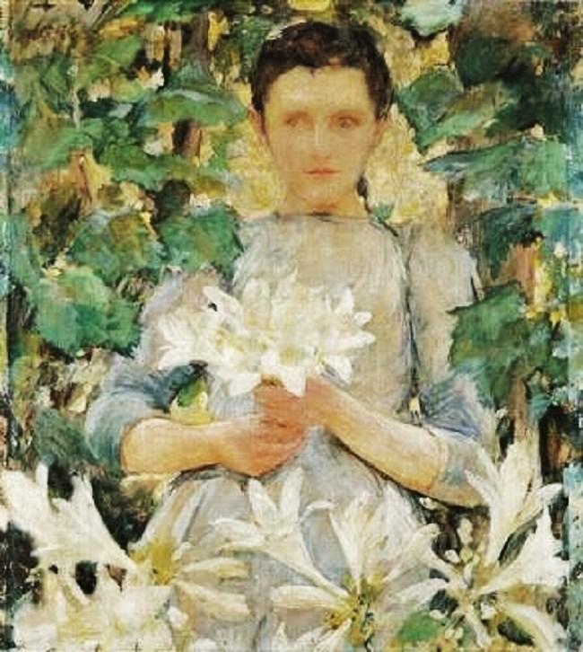 Robert Lewis Reid (American artist, 1862-1939) Daylilies.jpg