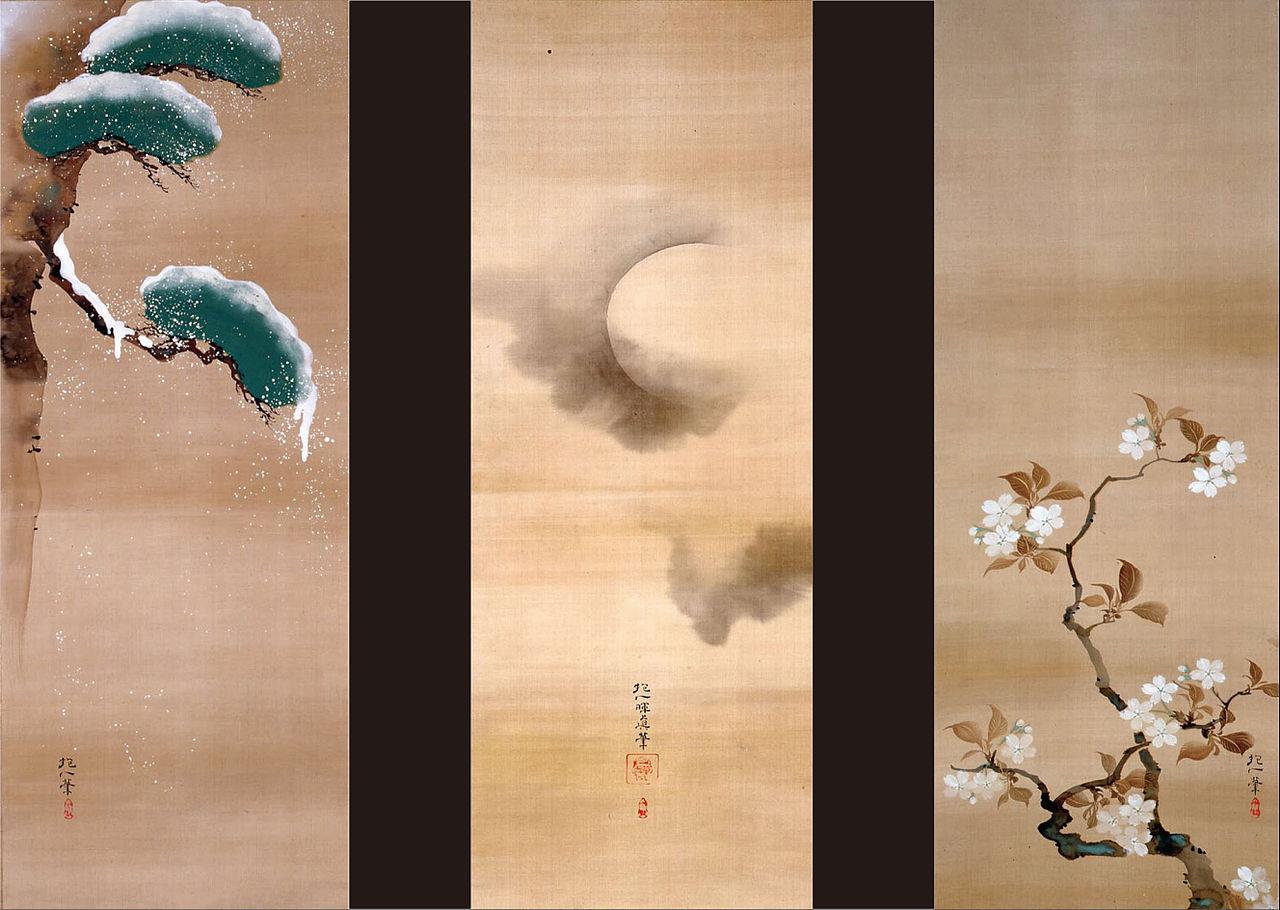Sakai_Hoitsu_-_SNOW,сакаи хоитсу_MOON_AND_FLOWERS_-_Google_Art_Project.jpg