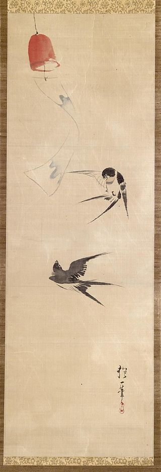 Sakai_Hoitsu_-_Two_Swallows_and_Wind_Bell_-_Walters_3572 (1).jpg