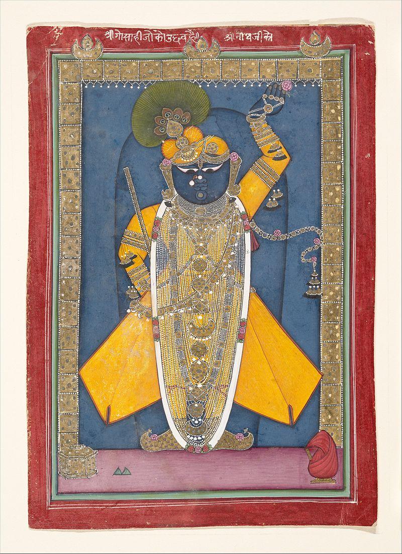 Shri_Nathji_Bedecked_for_Goswami_Vitthalnathji\'s_Birthday_Nathadwara_ca.1840_.jpg