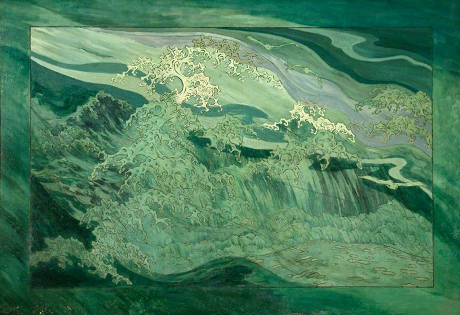 Sidney Sime, Painting of Waves.jpg