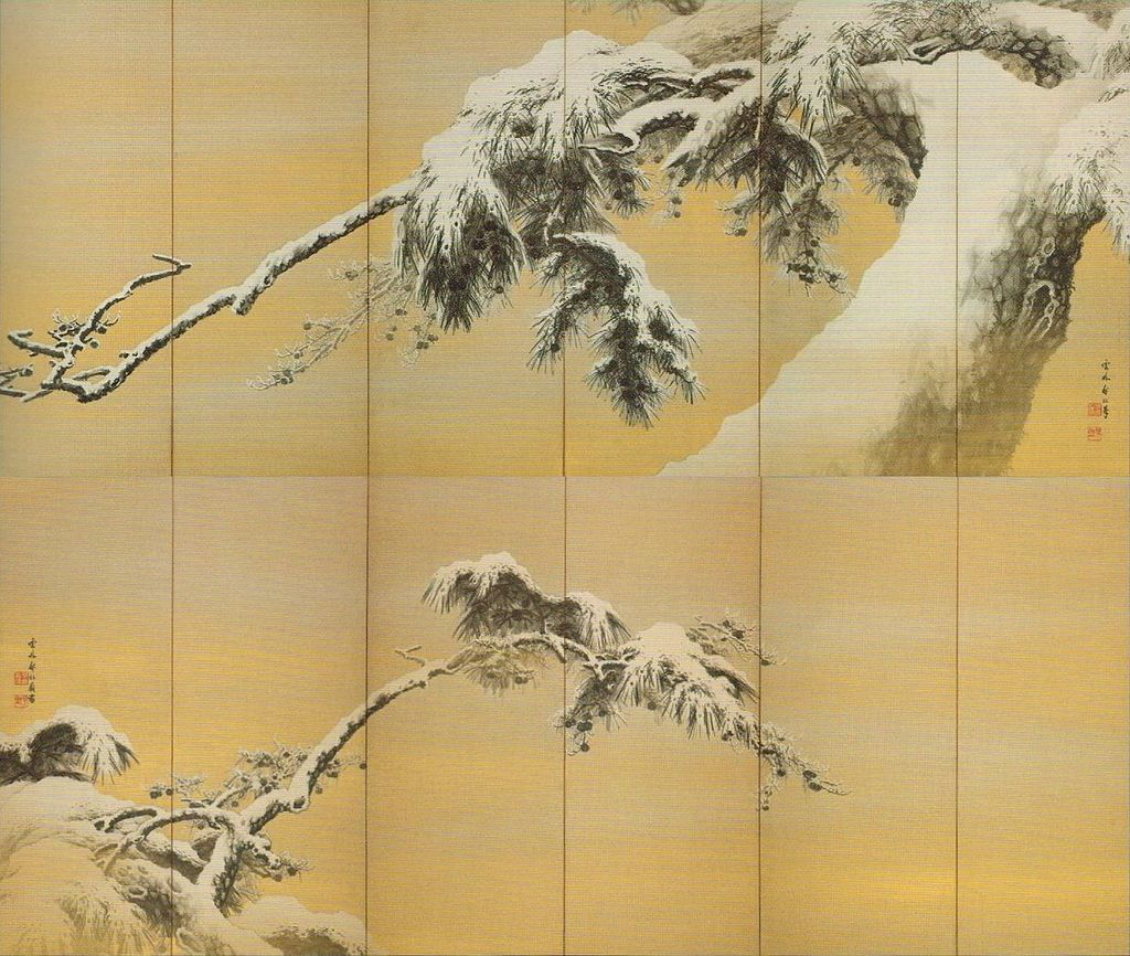'Snowy_Pines'_by_Muramatsu_Ungai_(1870-1926),_c._1920.jpg