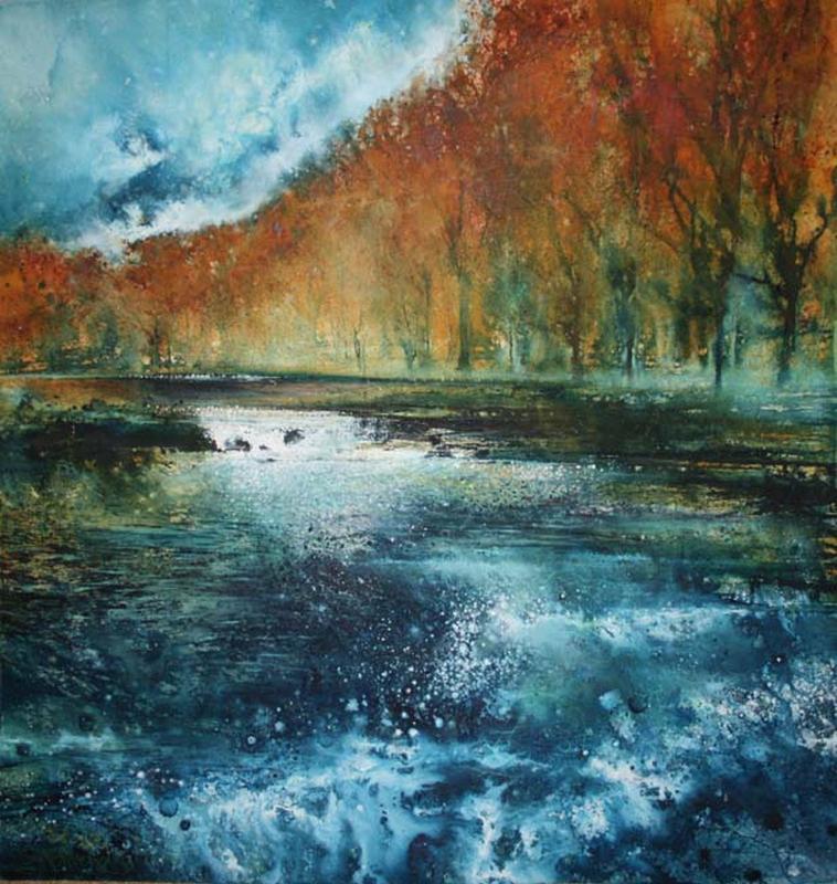 Stewart Edmondson-Down by the River (77 x 80cm).jpg