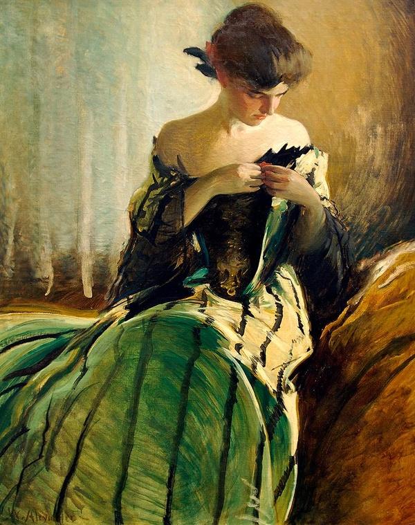 Study in Black and Green, by John White Alexander.jpg