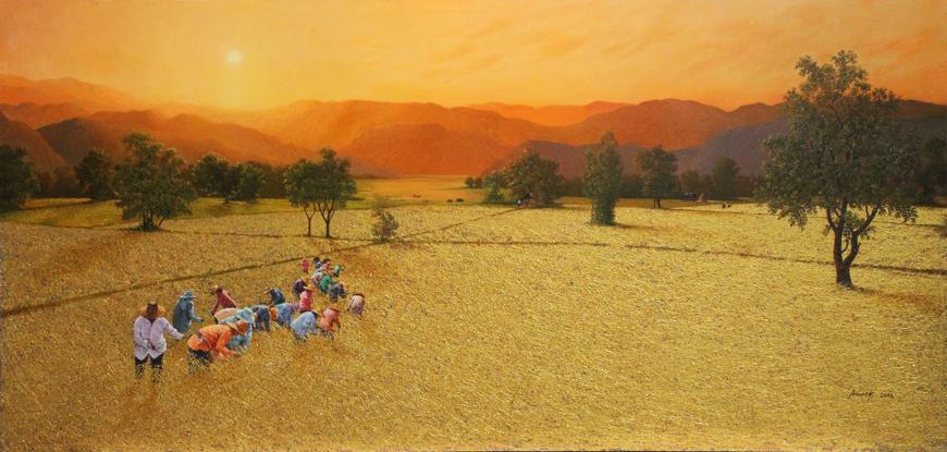 Sun-Rise-Isaan-Farmer-Serie-by-Anurak-Namaphai-Mixed-medias-on-canvas-125X250-cm-2014-870.jpg