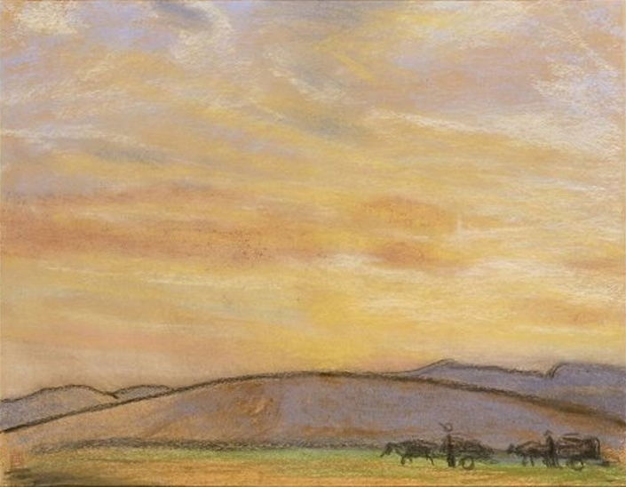 Sunrise_over_the_Mongolian_Plateau_by_Fujishima_Takeji_(Kagoshima_City_Museum_of_Art).jpg