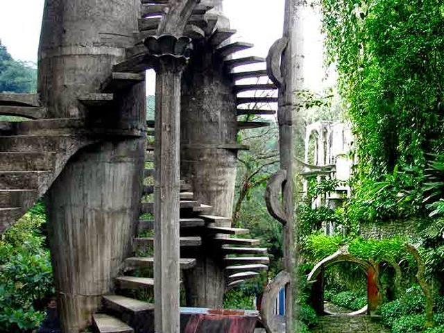 surrealist garden las pozas stairs trippy bohemian.jpg