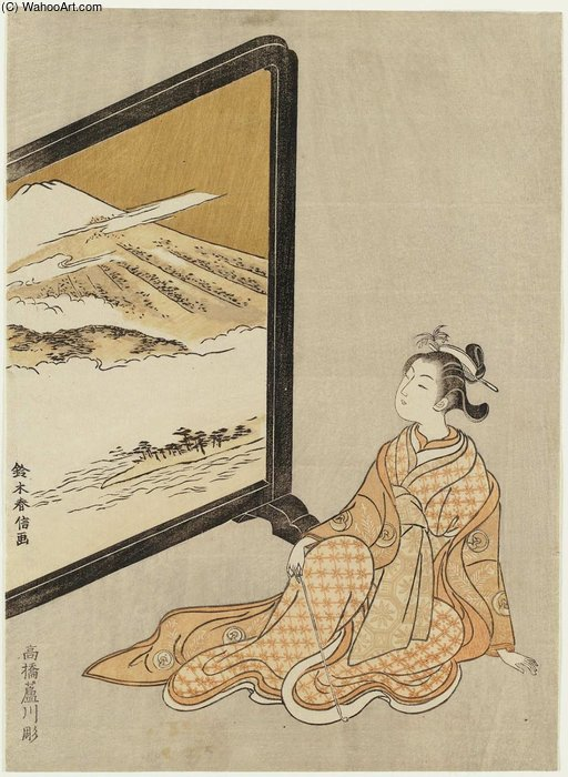 Suzuki_Harunobu-Courtesan_Looking_At_A_Screen_Painting_Of_Mount_Fuji.JPG