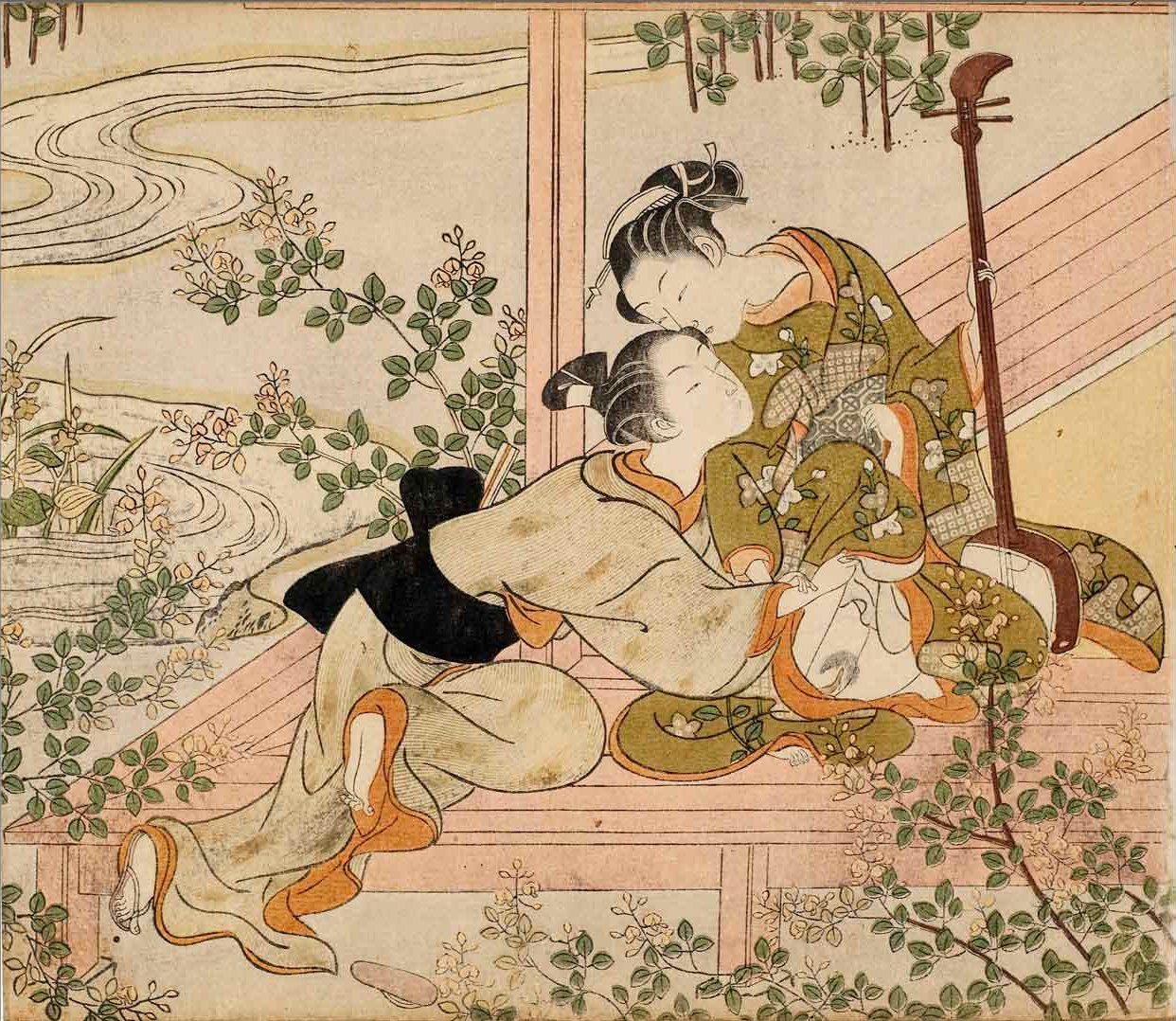 Suzuki_Harunobu_-_Lovers_on_a_Veranda_with_a_Shamisen,_c._1770.jpg