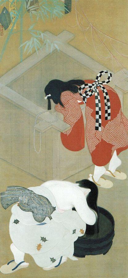 'Tanabata_Festival'_by_Betchaku_Tsukino,_painting_on_silk,_c._1920,_Honolulu_Museum_of_Art.jpg
