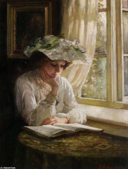 Thomas-Benjamin-Kennington-Lady-Reading-By-A-Window.JPG