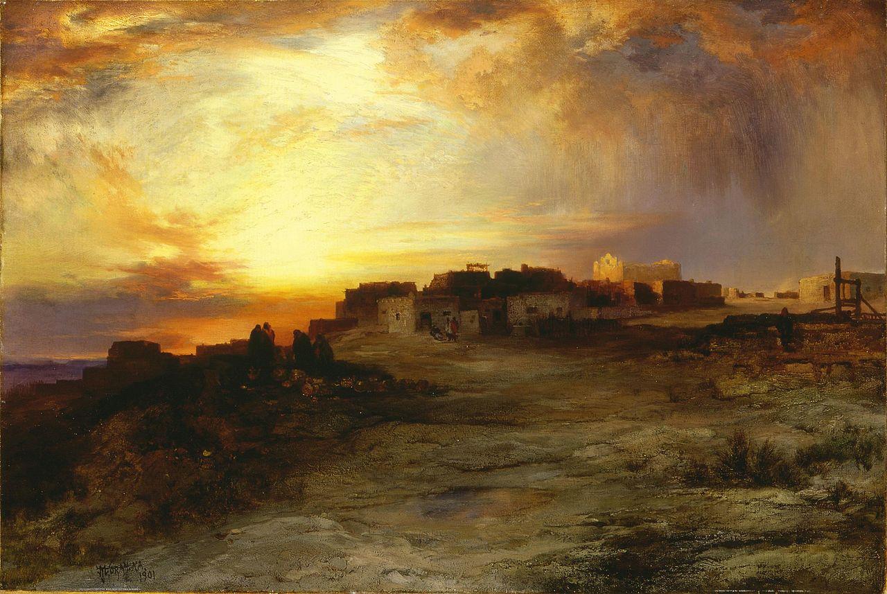 Thomas_Moran_-_Pueblo_at_Sunset_(1901).jpg