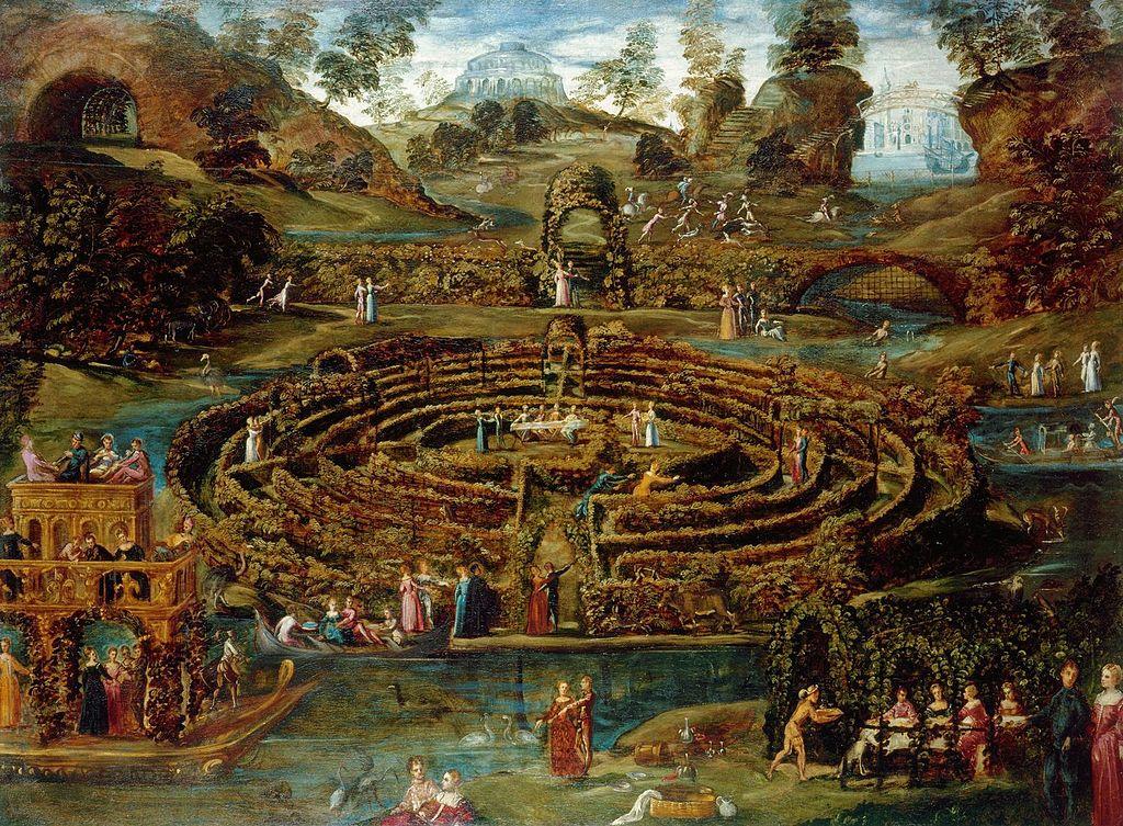 Toeput,_Lodewijck_(Pozzoserrato,_Lodovico)_-_Pleasure_garden_with_a_maze_-_c._1579-84.jpg