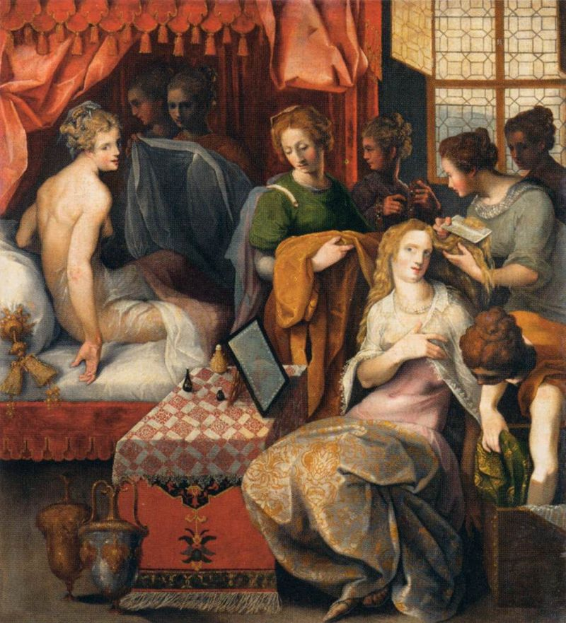 Toussaint_Dubreuil_-_Hyanthe_and_Clymene_at_their_Toilette_-_WGA6703.jpg