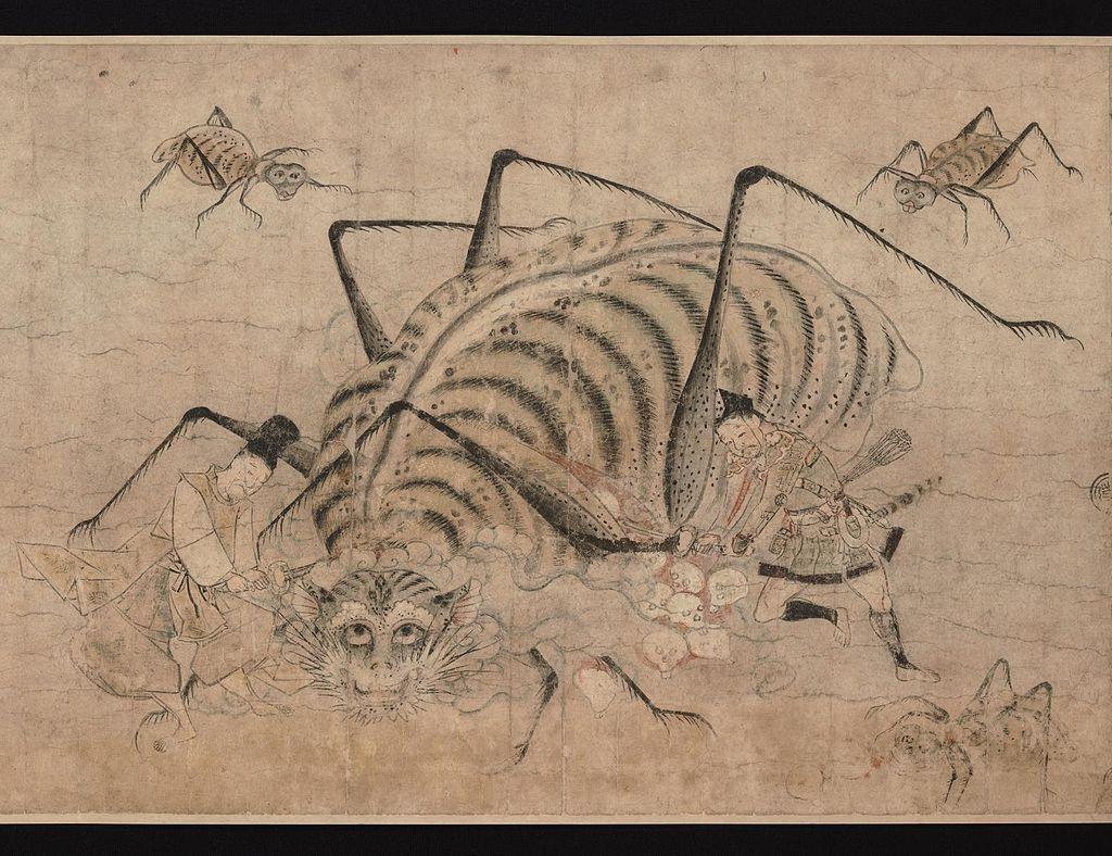 Tsuchigumo_no_soshi_emaki_-_Kamakura_-_part_14_-_Yorimitsu_killing_Tsuchigumo.jpg