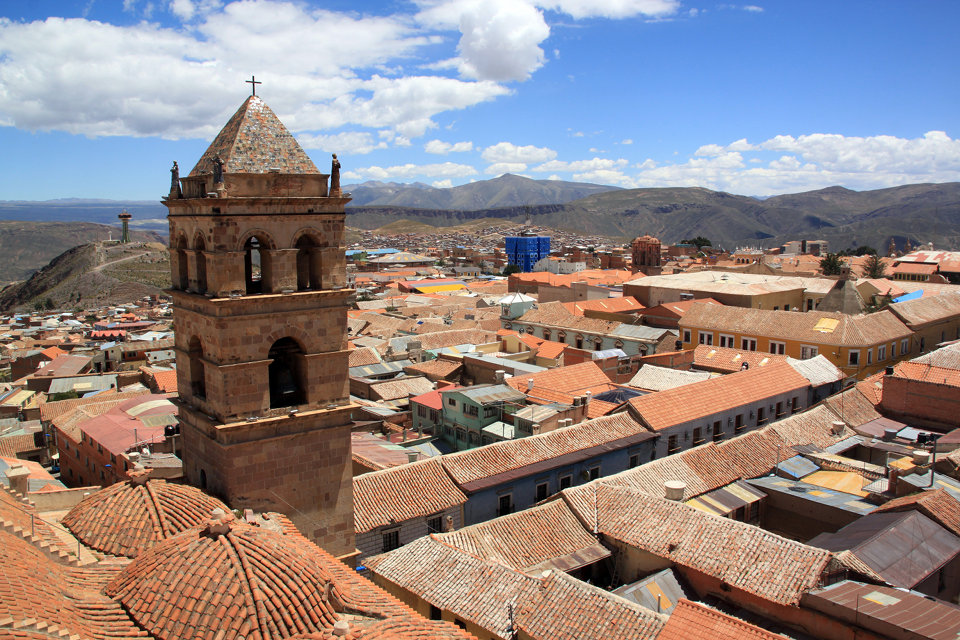 View from the top of roof of church San fransisco in Potosi, Bolivia.jpg