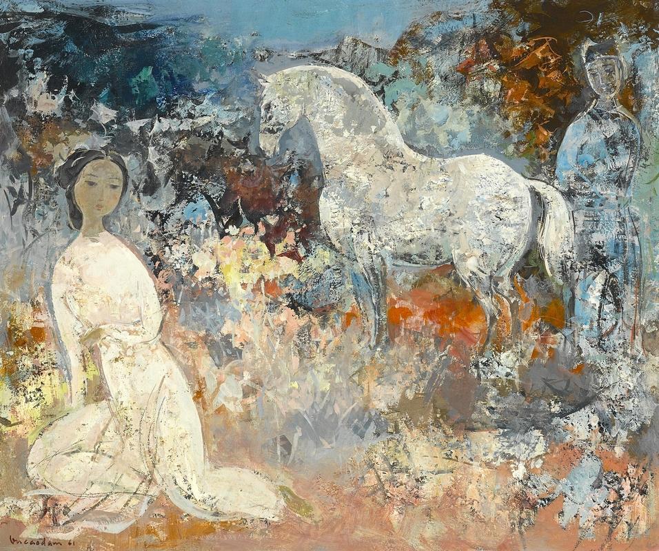 Vu Cao Dam 1961 Le cheval blancе.jpg
