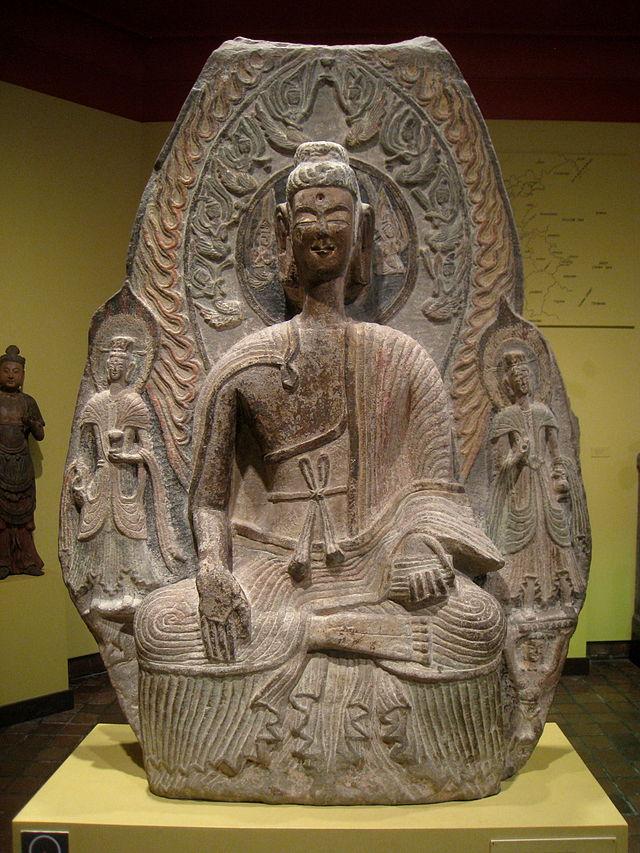 Wei_Dynasty,_early_6th_century_AD,_limestone_-_Worcester_.JPG