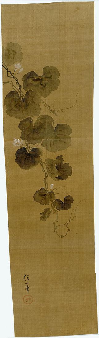 Wittig.collection.painting.02.flowering.gourd.vine.rinpa.school.signature.&.seal.of.sakai.hoitsu.jpg