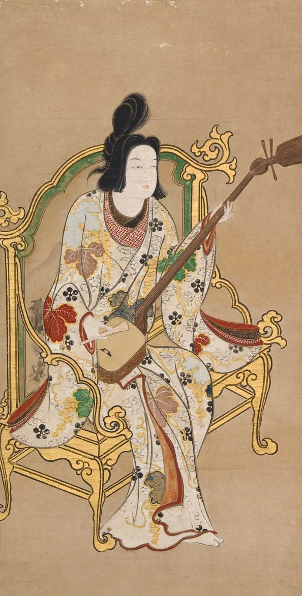 'Woman_Playing_a_Samisen',_Japanese_late_17th_century.jpg