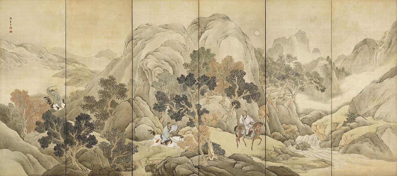 Xiao_He_chases_Han_Xin_by_Yosa_Buson_(Nomura_Art_Museum).jpg