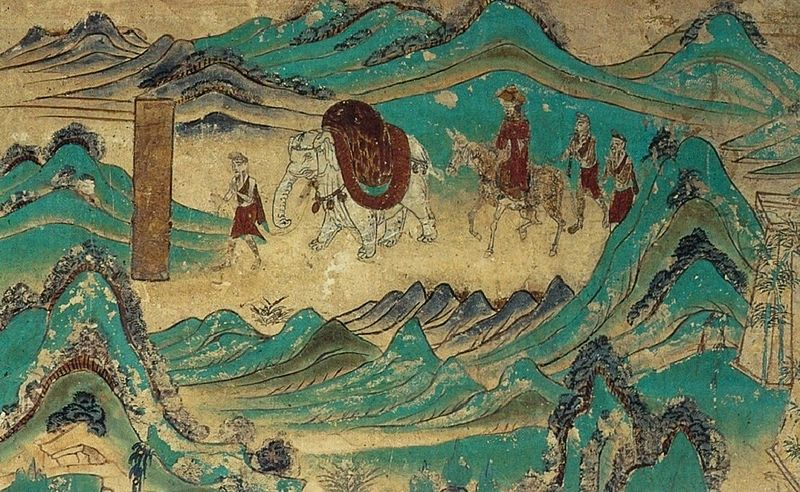 Xuanzang_returned_from_India._Dunhuang_mural,_Cave_103._High_Tang_period_(712-765)..jpg